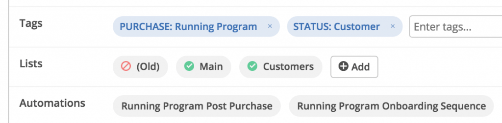 ActiveCampaign Tags, Lists, Automations