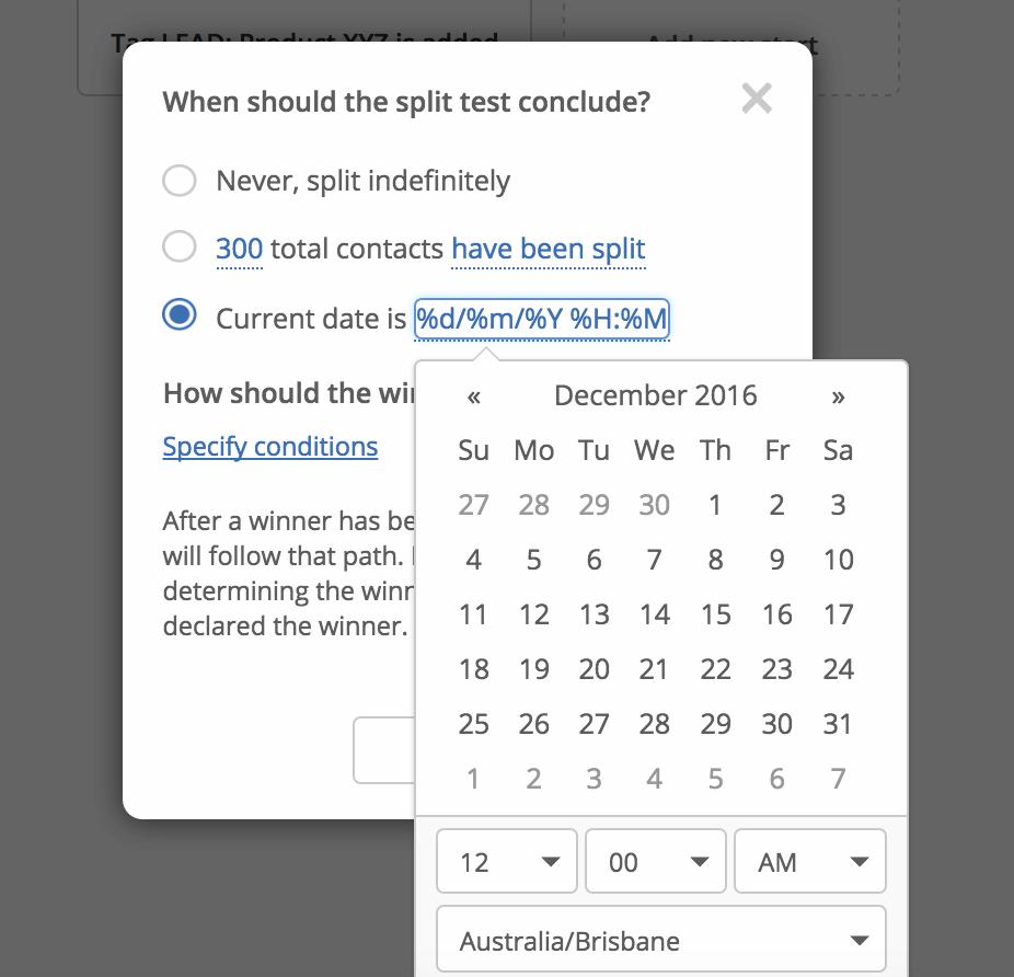 Split by date