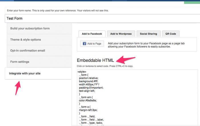 ActiveCampaign form HTML
