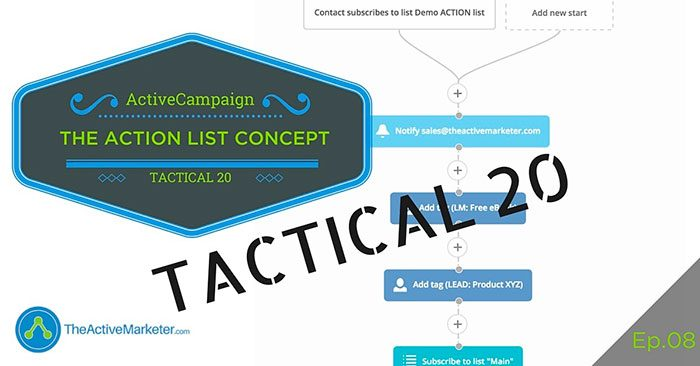 ActiveCampaign Action List Concept