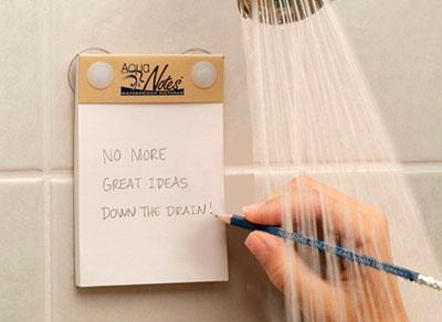 Notes for the shower