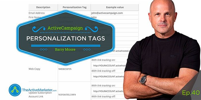 ActiveCampaign Personalization Tags Barry Moore