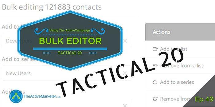 ActiveCampaign Bulk Editor