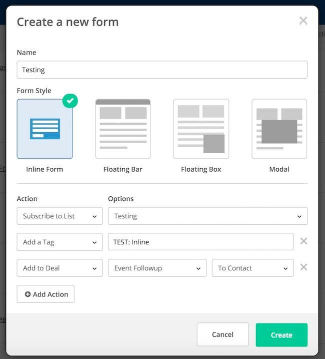 New ActiveCampaign Form Builder